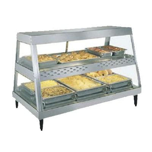 "Hatco GRHD-3PD Stainless Steel Glo-Ray 45 1/2"" Full Service Dual Shelf Merchandiser"
