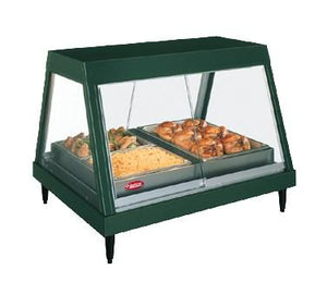 "Hatco GRHDH-2P Stainless Steel Glo-Ray 33 3/8"" Full Service Single Shelf Merchandiser With Humidity Chamber"