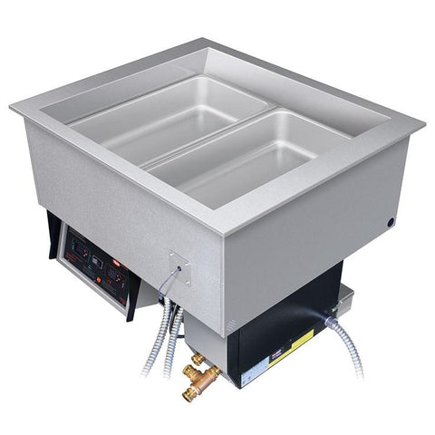 Hatco HCWBI-2DA Two Pan Dual Temperature Hot / Cold Drop In Food Well - 3000 Watts, 1/4 HP