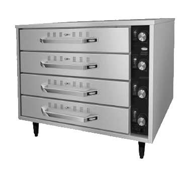 Hatco HDW-2R2 Free Standing Warming Unit with 4 Drawer & 2 Pan, Thermostatic Control, Stainless