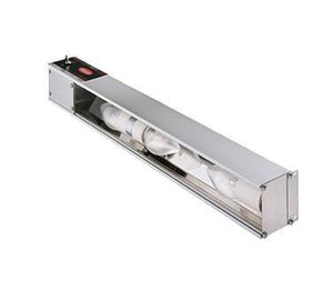 "Hatco HL-60-2 Glo-Rite 60"" Strip Display Light - Built In Toggle Control & Extra Lights, Aluminum"