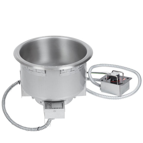 Hatco HWB-11QTD Single Drop In Round Heated Soup Well with Drain - 11 Qt