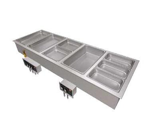 Hatco HWBI-6 Drop-In Hot Food Well - (6) Full Size Pan Capacity, Stainless Steel / Aluminum
