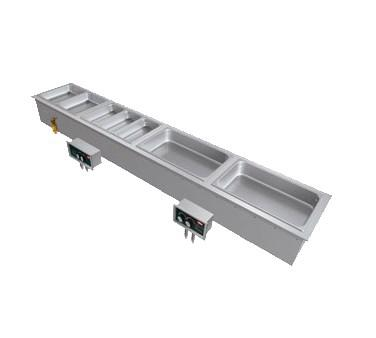 Hatco HWBI-S3DA Drop-In Hot Food Well - (3) Full Size Pan Capacity (with Drains & Auto-Fill), Steel / Aluminum