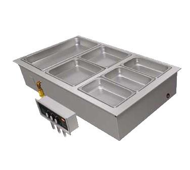 Hatco HWBLI-5D Drop-In Hot Food Well (with Drains), (5) Full Size Pan Capacity, Stainless Steel / Aluminum