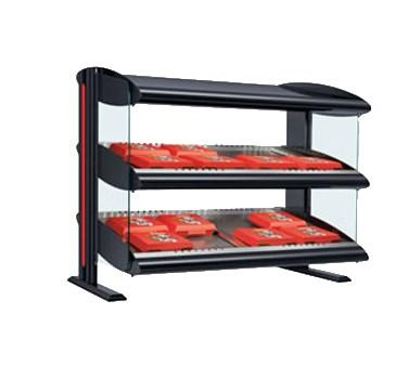 "Hatco HZMS-54D 54"" Slanted Double Shelf Heated Zone Merchandiser - 120/208V"