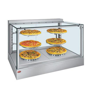 "Hatco IHDCH-45 45"" Full Service Heated Display Warmer with Sliding Doors and Humidity Control - 240V"