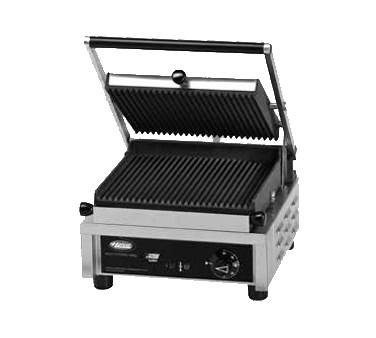 Hatco MCG10G Multi Contact Panini Sandwich Grill with Grooved Cast Iron Plates - 120V, 1800W