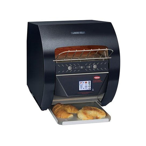 "Hatco TQ3-400 Toast-Qwik Black Conveyor Toaster with 2"" Opening and Digital Controls - 120V, 1780W"