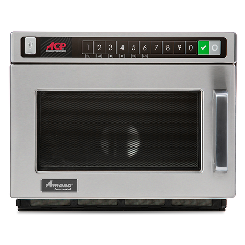 ACP HDC12A2 Amana® Commercial Microwave Oven, 0.6 cu. ft. capacity, 1200 watts, heavy volume, 120v/60/1-ph, 16.8 amps, cETLus, ETL-Sanitation
