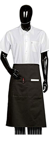 HI-LITE 920 Two Center Pockets Bistro Apron, Black