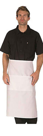 HI-LITE 920 Two Center Pockets Bistro Apron, White