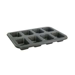 Winco HLF-8MN Mini Loaf Pan, (8) 5 oz  compartments, 14