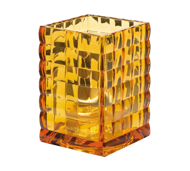 Hollowick 1533A Optic Block™ Lamp, square, accommodates Hollowick's disposable fuel cells, glass, amber