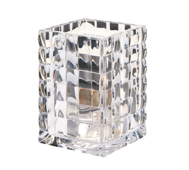 Hollowick 1533C Optic Block™ Lamp, square, accommodates Hollowick's disposable fuel cells, glass, clear