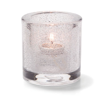Hollowick 5140CJ Tealight Lamp, round, thick glass, accommodates Hollowick's disposable fuel cell, clear jewel