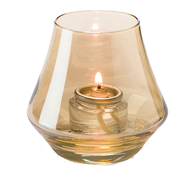 Hollowick 6955G Chime™ Votive Lamp, bell form, glass, accommodates Hollowick's HD8 or HD15 fuel cell, gold luster