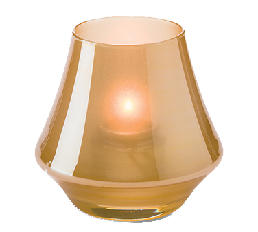 Hollowick 6955SG Chime™ Votive Lamp, bell form, glass, accommodates Hollowick's HD8 or HD15 fuel cell, satin gold