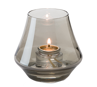 Hollowick 6955S Chime™ Votive Lamp, bell form, glass, accommodates Hollowick's HD8 or HD15 fuel cell, smoke lustre