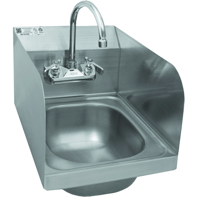 GSW USA HS-1217S  Hand Sink - Includes: Faucet & Strainer, Stainless Steel