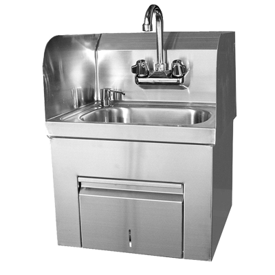 GSW USA HS-1217TS Hand Sink (Includes: Faucet, Strainer & Soap Dispenser), Stainless Steel