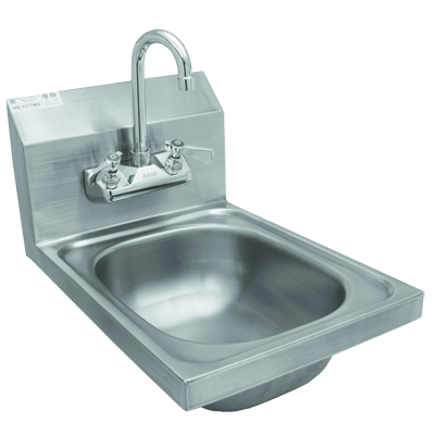 GSW USA HS-1217W Hand Sink - Wall Mount (Includes: Faucet & Strainer), Stainless Steel