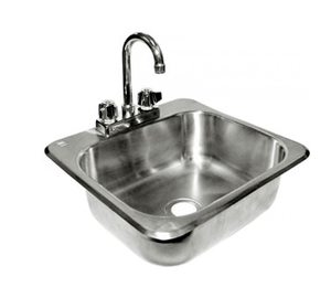 GSW USA HS-1615I Standard Drop-in Hand Sink (Includes: Faucet & Strainer)