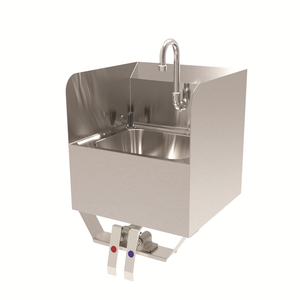 "GSW USA HS1615KS Hand Sink, Wall mount, knee operated, one compartment, 15-3/4""W x 15-1/4""D x 24-3/4""H"