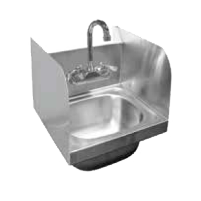 GSW USA HS-1615S Wall Mount Hand Sink (Includes: Faucet & Strainer), Stainless Steel
