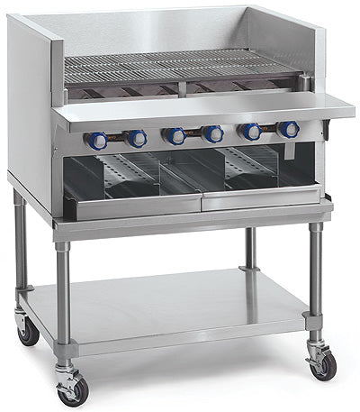 "Imperial IABA-72 Smoke Broiler, gas, countertop, 72"", (13) stainless steel burners, 260,000 BTU, NSF"