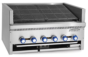 "Imperial IABR-72 Steakhouse Charbroiler, gas, countertop, 72"", (13) stainless steel burners, 240,000 BTU, NSF"