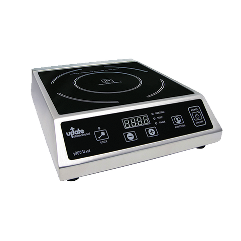 "Crown Brands IC-1800WN Update International™ - Induction Cooker, countertop, 15-1/2""L x 12""W x 4-1/4""H, 140°F to 464°F temperature range, 1800 watt, 120v/60/1-ph, 15 amp, ETL"