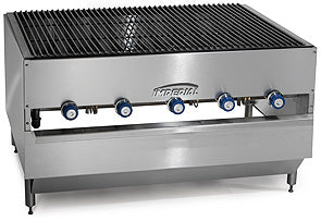 "Imperial ICB-6036 Chicken Charbroiler, gas, countertop, 60"", (6) radiant ""H"" burners, 300,000 BTU, NSF"