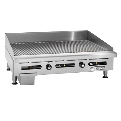 "Imperial IGG-36 Griddle, countertop, gas, 36"" W x 24"" D cooking surface, 90,000 BTU, NSF"