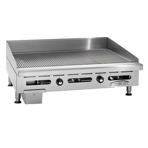 "Imperial IGG-48 Griddle, countertop, gas, 48"" W x 24"" D cooking surface, 120,000 BTU, NSF"