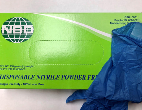 NEAL 71950044 Nitrile Powder Free Gloves, Large, Latex Free
