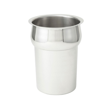 "Winco INS-2.5 Inset, 2-1/2 quart, 6"" x 7-1/2"", round, heavy weight stainless steel, mirror finish"