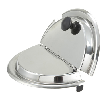 Winco INSH-7 Inset Cover, hinged, for 7 quart (INS-7.0M), heavy weight stainless steel, mirror finish