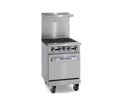 "Imperial IR-4 Pro Series  24"" Restaurant Gas Range - (4 Open Burners)"