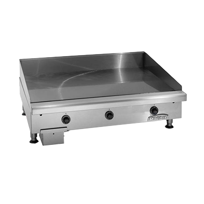"Imperial ITG-36-E Griddle, electric, countertop, 36"" W x 24"" D cooking surface, 1/2"" thick, polished steel plate, CE"