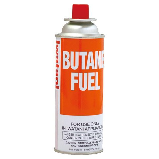 Iwatani BU-6 Butane Fuel Canister, 8 oz  capacity, rim vent release system