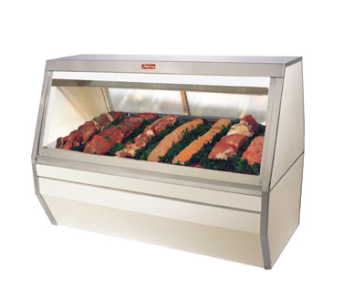 "Howard-McCray SC-CMS35-12 Red Meat Service Case, Double Duty, 143""W"