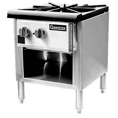 "Connerton CSP-18-3 Stock Pot Stove, gas, 18""W x 20.5""D x 24""H, 3-ring cast iron burner, 90,000 BTU, NSF, CSA"