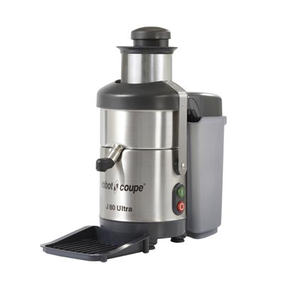 Robot Coupe J80 Centrifugal Juicer, 6.5 liter waste container, stainless steel juicer basket