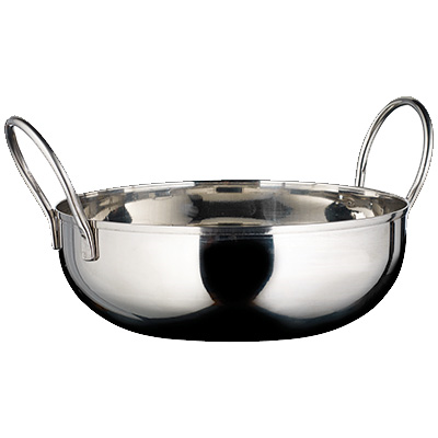 "Winco KDB-6 Kady Bowl, 28 oz., 6"" dia. x 1-1/2""H, round, with welded handles, stainless steel, mirror finish"