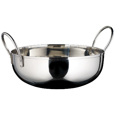 "Winco KDB-7 Kady Bowl, 40 oz., 7"" dia. x 1-1/2""H, round, with welded handles, stainless steel, mirror finish"