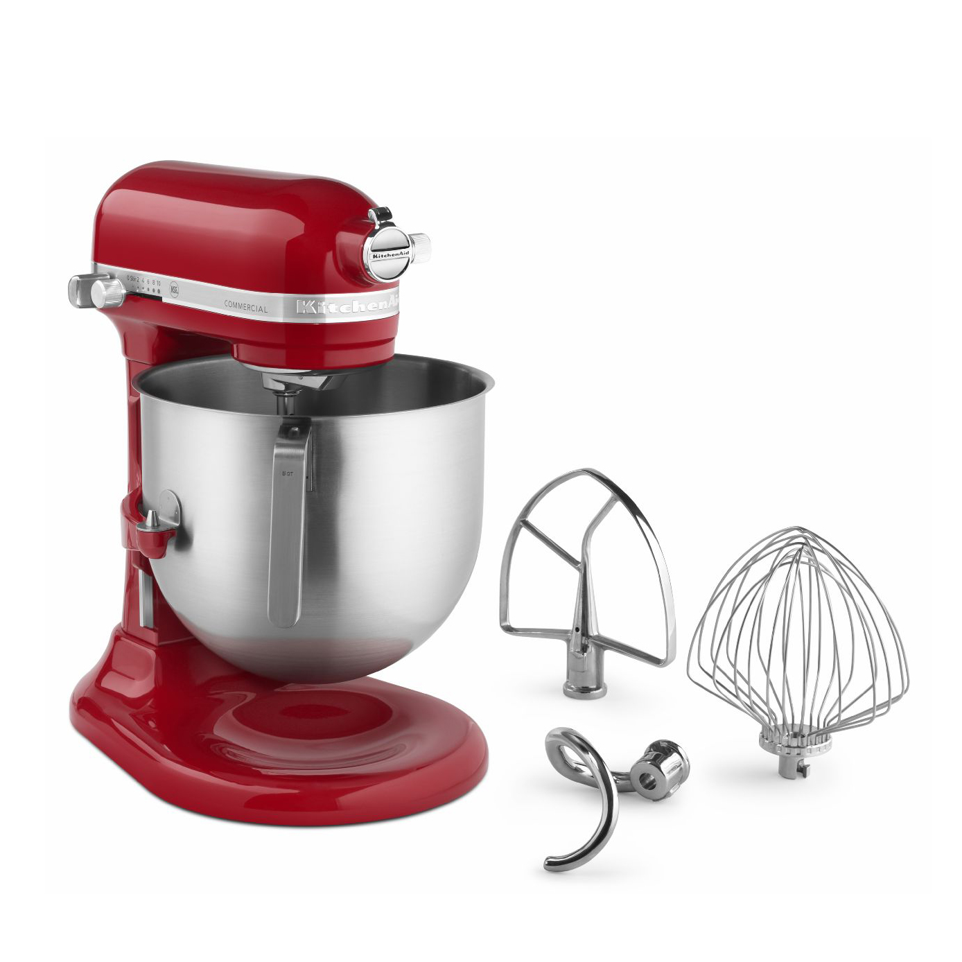 KitchenAid® KSM8990ER Commercial Stand Mixer, 8 Quart Bowl with Lift, Red