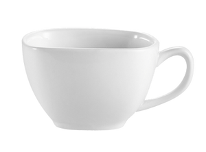 "CAC China KSE-1 Kingsquare Coffee Cup, 8 oz., 3-3/4""L x 3-3/4""W x 2-1/2""H, square, 3dz Per Case"