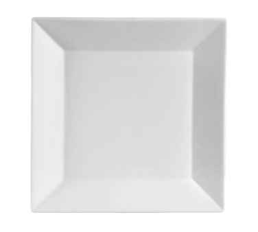 "CAC China KSE-22 Kingsquare Plate, 13-3/4""L x 13-3/4""W x 1-1/4""H, square, 1dz Per Case"