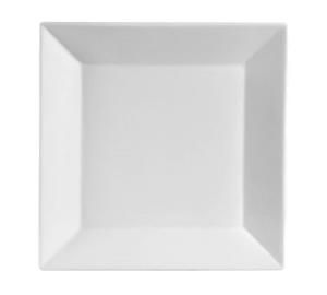 "CAC China KSE-5 Kingsquare Plate, 5""L x 5""W x 1/2""H, square, 4dz Per Case"